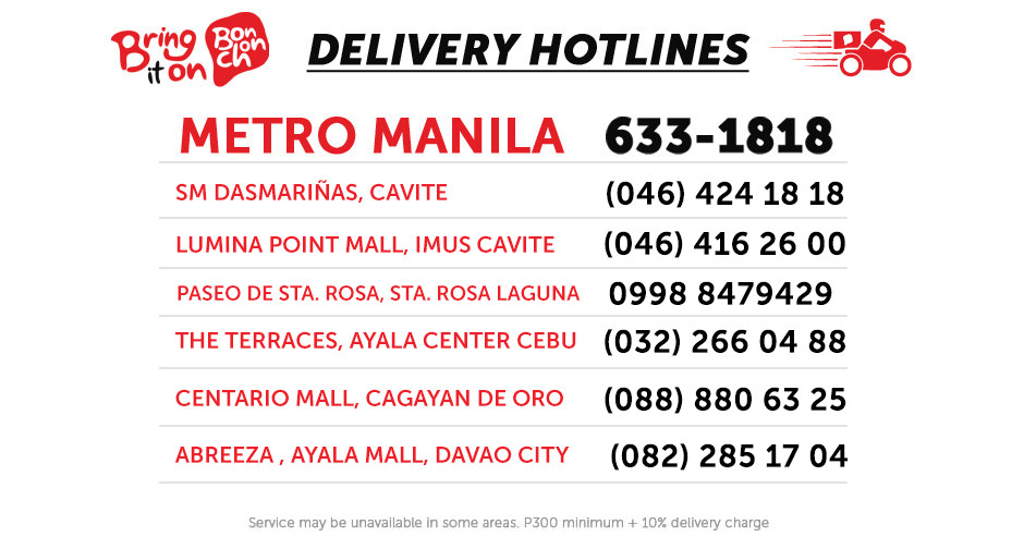 BonChon Delivery Numbers