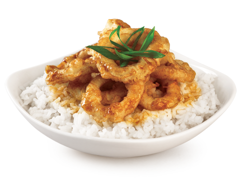 BonChon Crispy Squid Rice