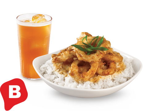 BonChon Crispy Squid Ricebox