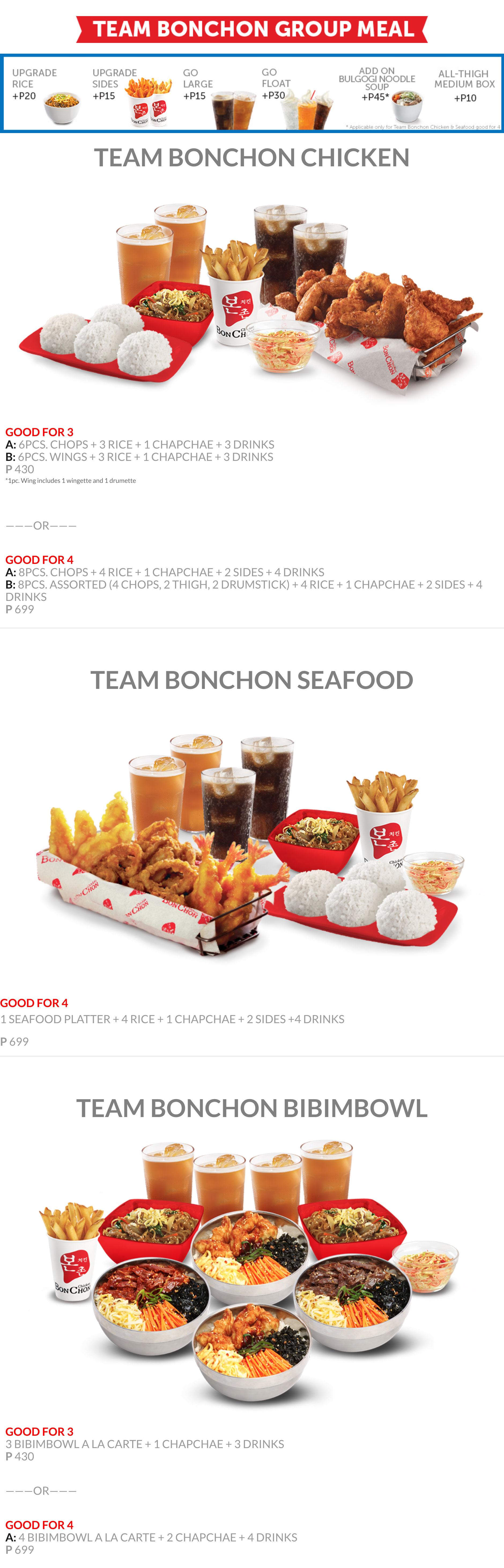 Bonchon Team Bonchon Menu