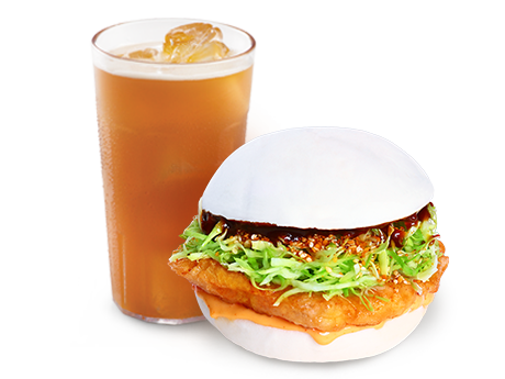 Bonchon Snack Bao with Drink